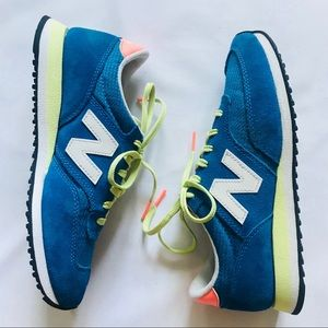 New Balance Aqua blue suede and neon Sneakers